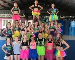 Dress up cheer training!