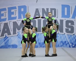"Angels ""Tiny"" Cheer Comp Team - and winners!"